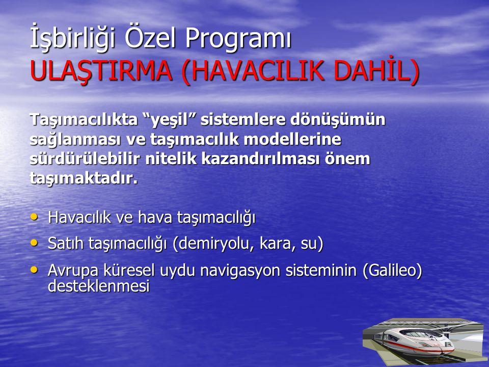 İşbirliği Özel Programı ULAŞTIRMA (HAVACILIK DAHİL)