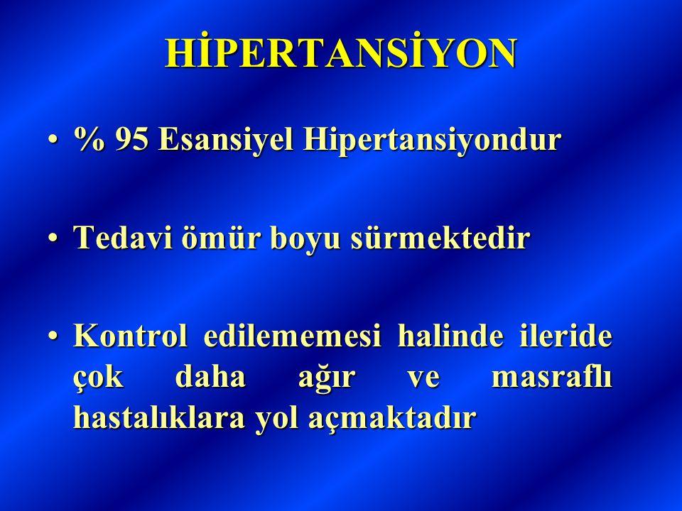 HİPERTANSİYON % 95 Esansiyel Hipertansiyondur