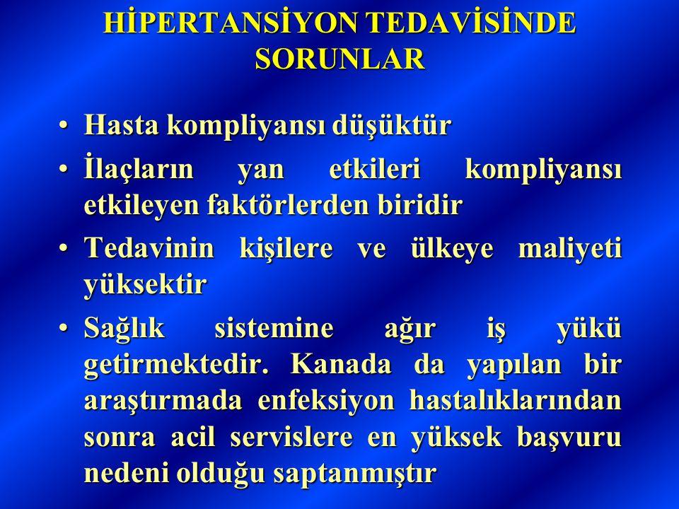 HİPERTANSİYON TEDAVİSİNDE SORUNLAR