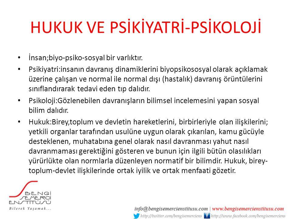 HUKUK VE PSİKİYATRİ-PSİKOLOJİ