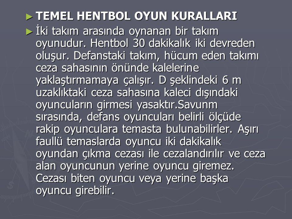 TEMEL HENTBOL OYUN KURALLARI