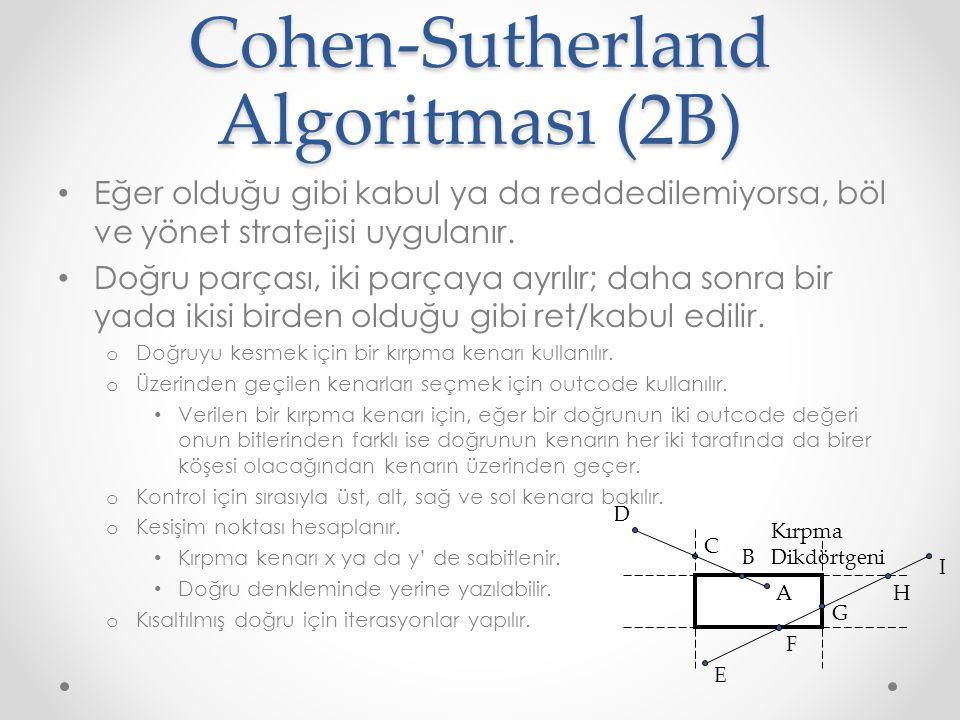 Cohen-Sutherland Algoritması (2B)