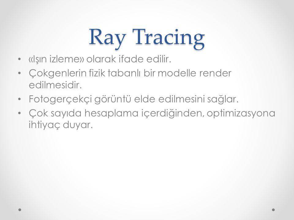 Ray Tracing «Işın izleme» olarak ifade edilir.