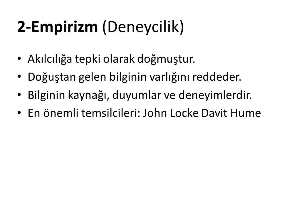 2-Empirizm (Deneycilik)