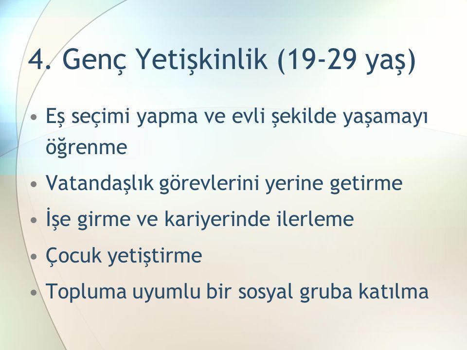 4. Genç Yetişkinlik (19-29 yaş)