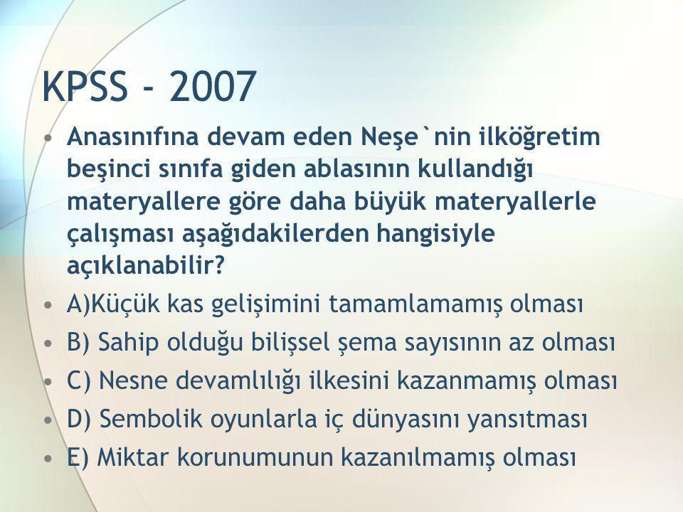 KPSS - 2007