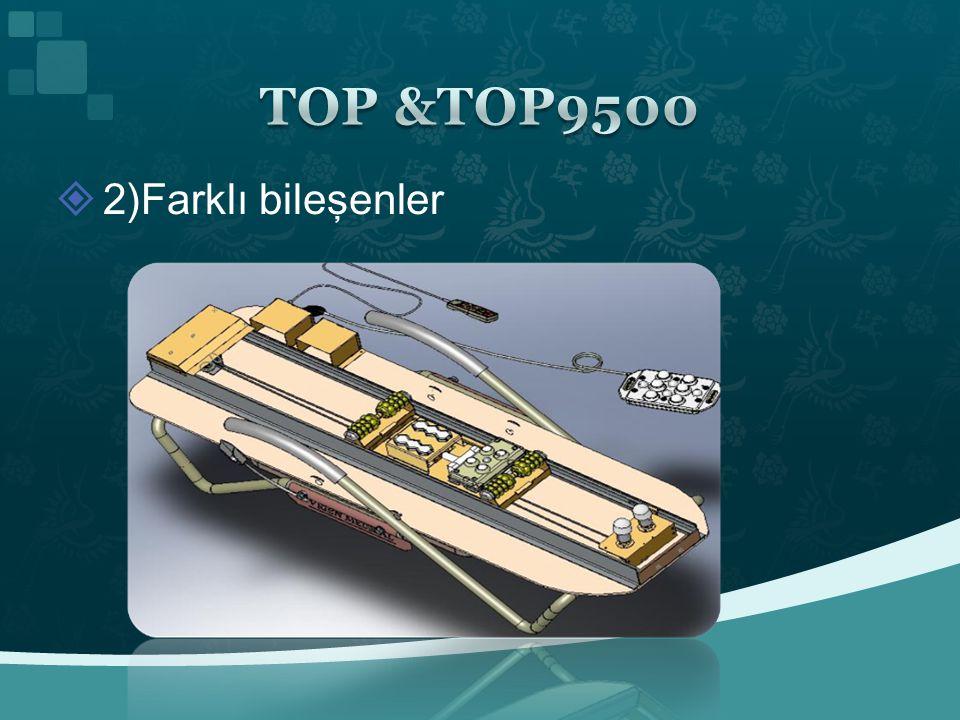 TOP &TOP9500 2)Farklı bileşenler