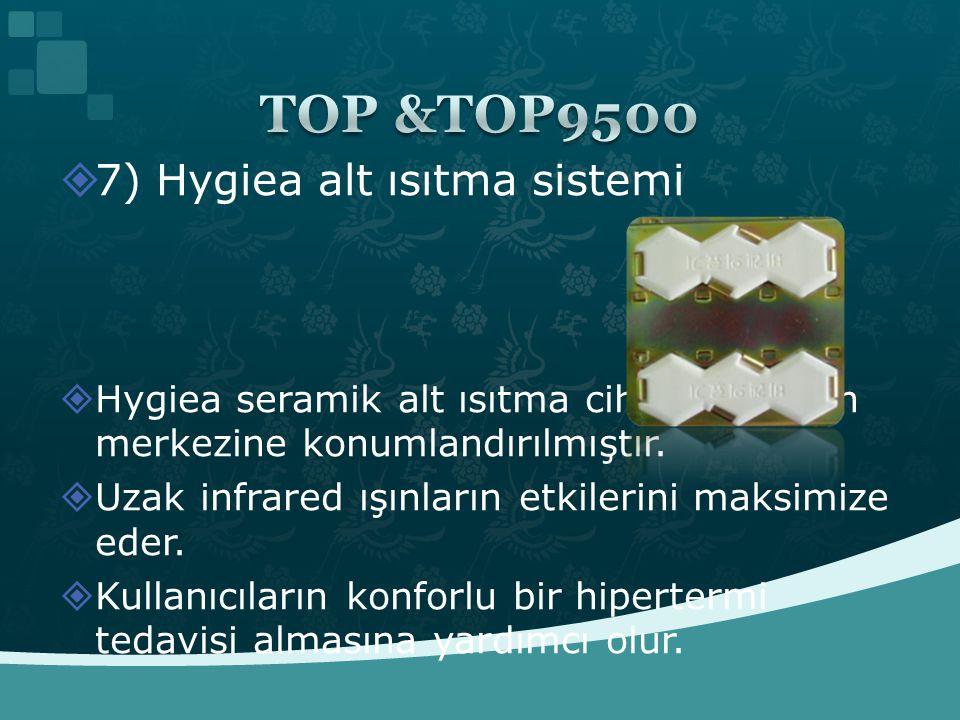 TOP &TOP9500 7) Hygiea alt ısıtma sistemi
