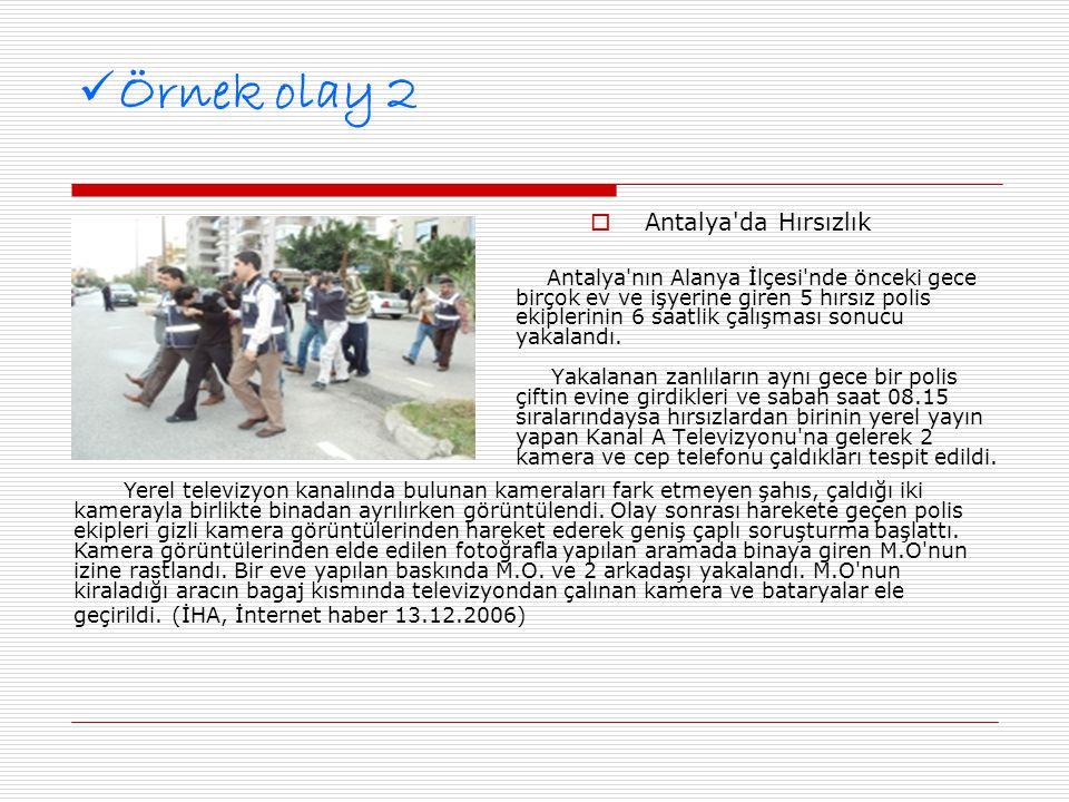 Örnek olay 2 Antalya da Hırsızlık
