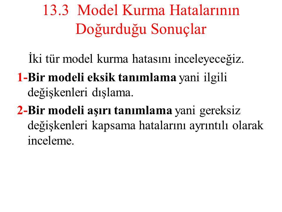 13.3 Model Kurma Hatalarının Doğurduğu Sonuçlar