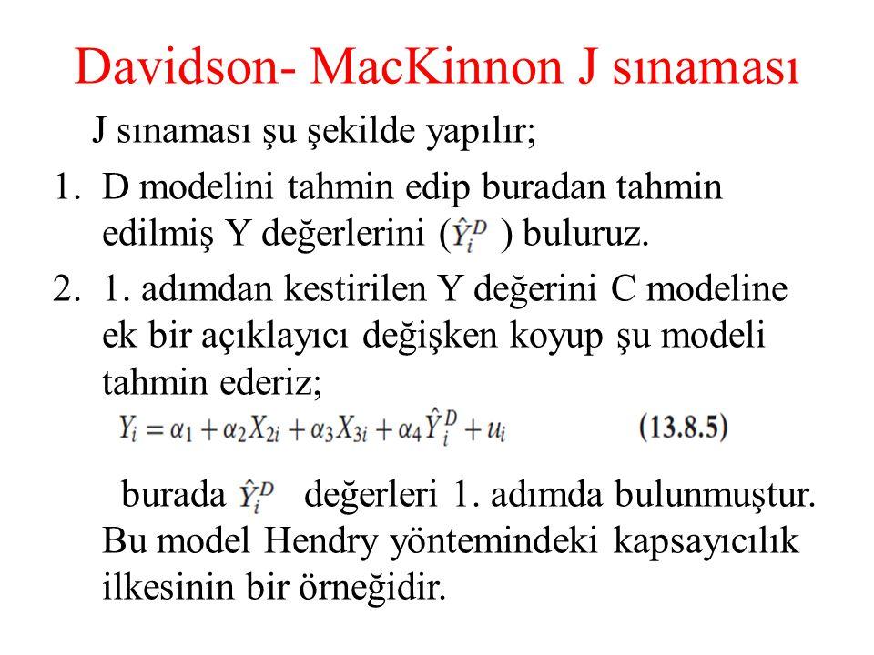 Davidson- MacKinnon J sınaması