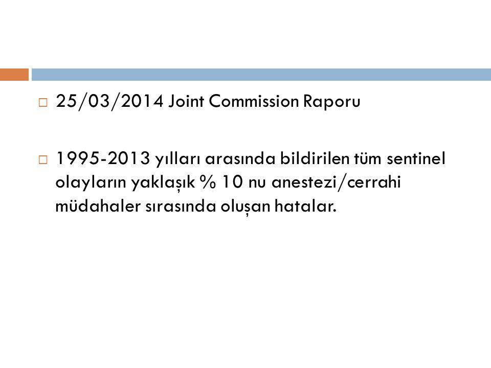 25/03/2014 Joint Commission Raporu