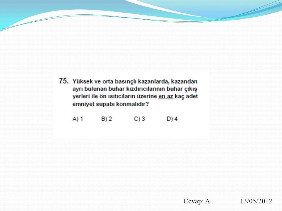 Cevap: A 13/05/2012