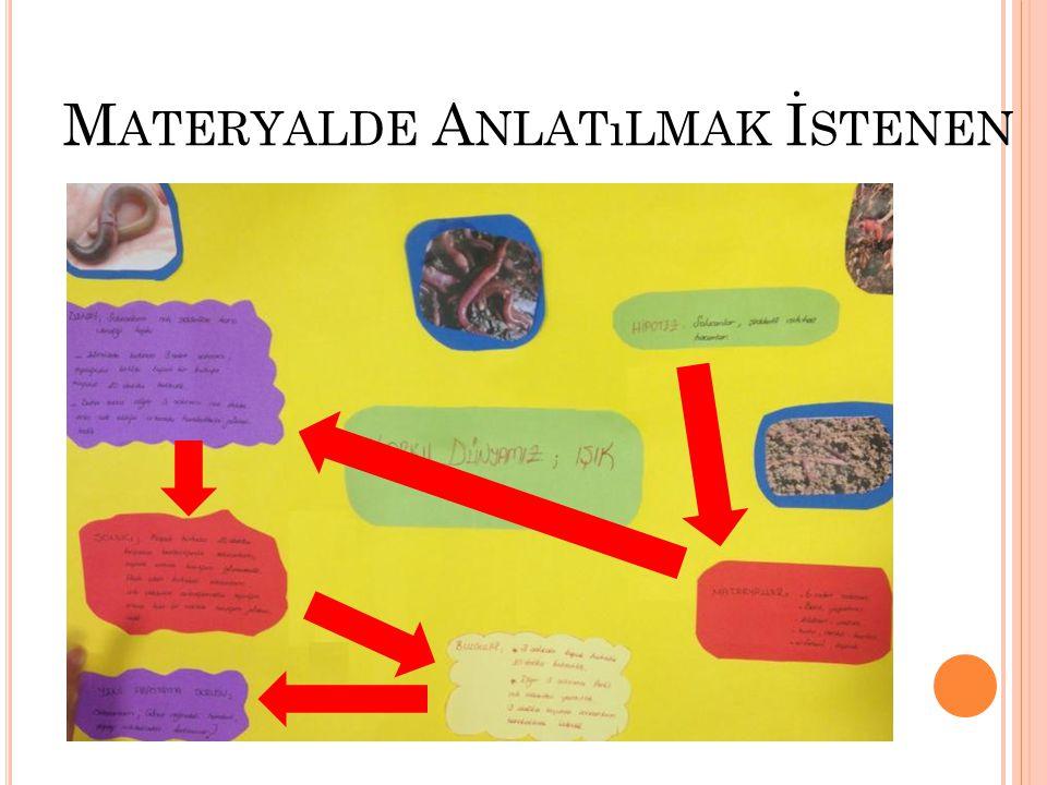 Materyalde Anlatılmak İstenen