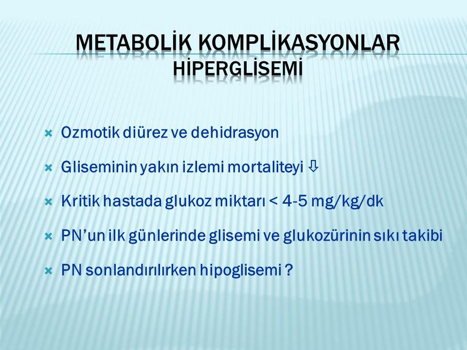 Metabolİk komplİkasyonlar Hİperglİsemİ