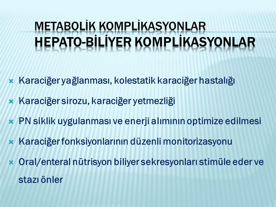 Metabolİk komplİkasyonlar Hepato-bİlİyer Komplİkasyonlar