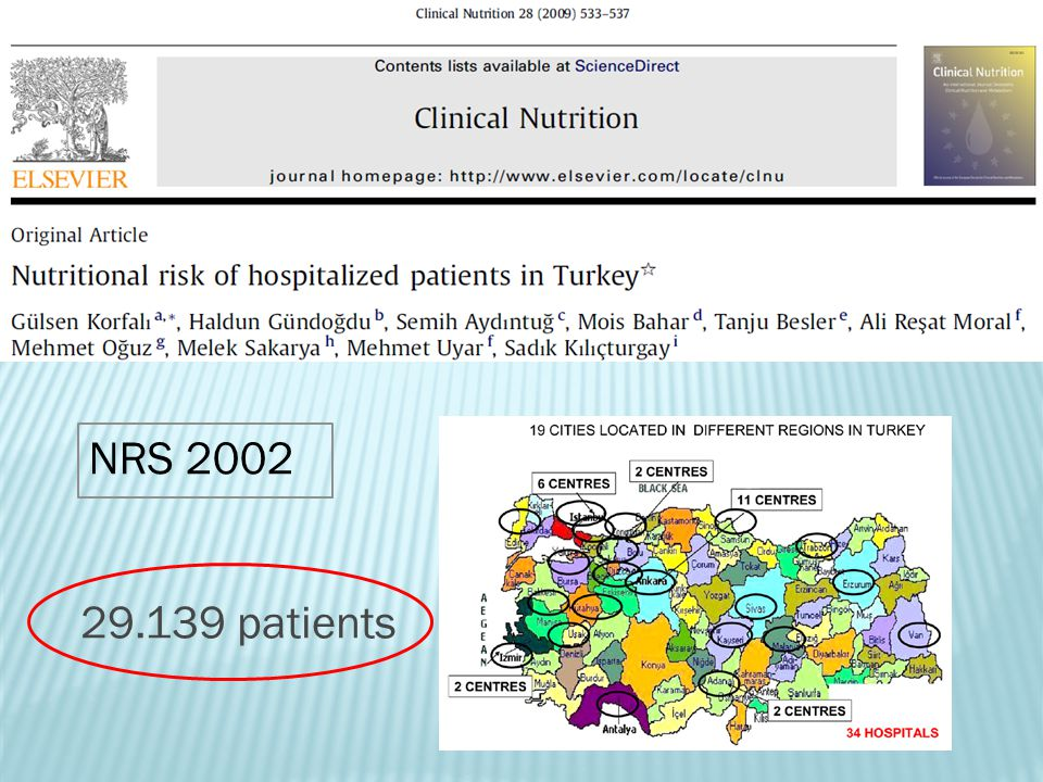 NRS 2002 29.139 patients