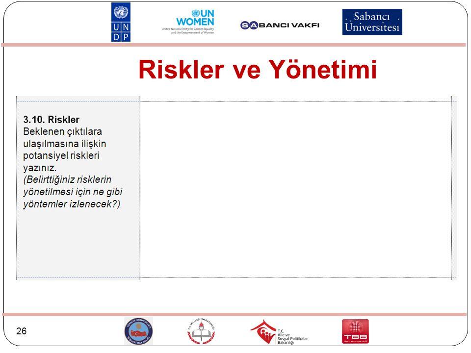 Riskler ve Yönetimi
