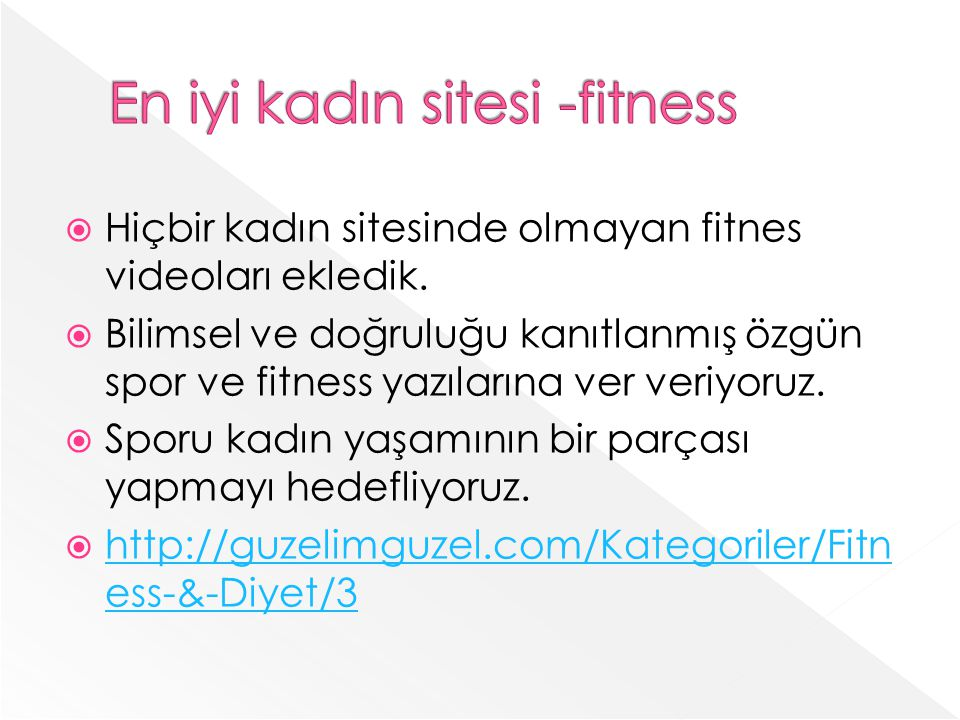 En iyi kadın sitesi -fitness