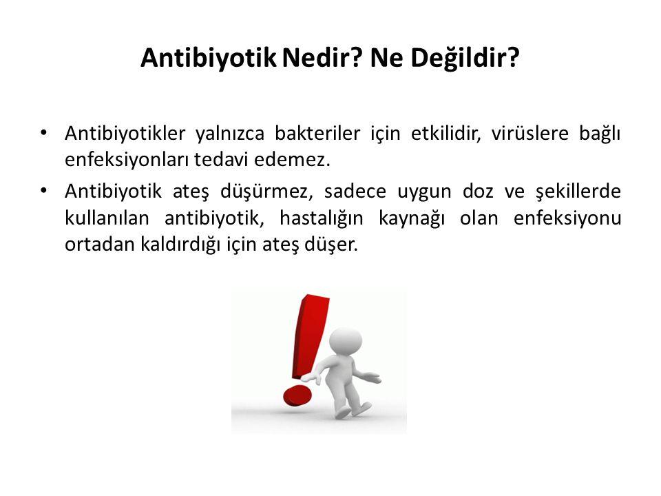 Antibiyotik Nedir Ne Değildir