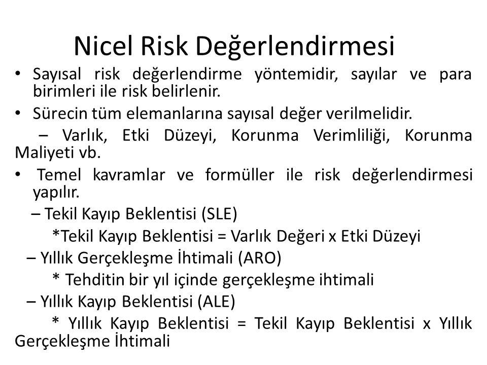 Nicel Risk Değerlendirmesi