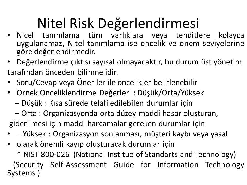 Nitel Risk Değerlendirmesi