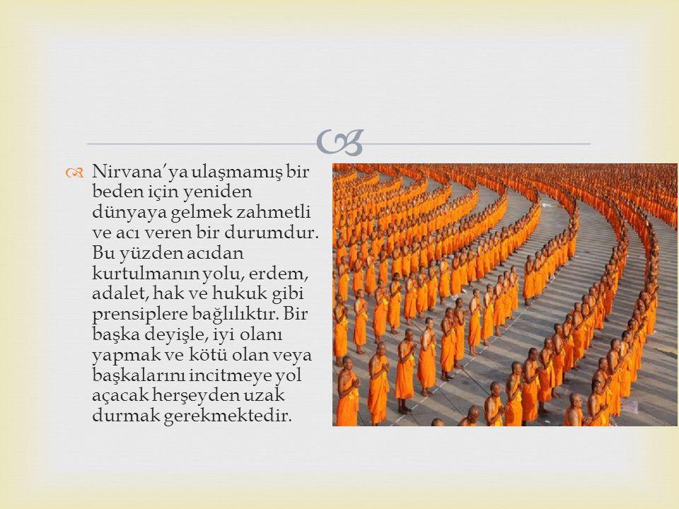 Nirvana'ya ulaşmamış bir beden için yeniden dünyaya gelmek zahmetli ve acı veren bir durumdur.