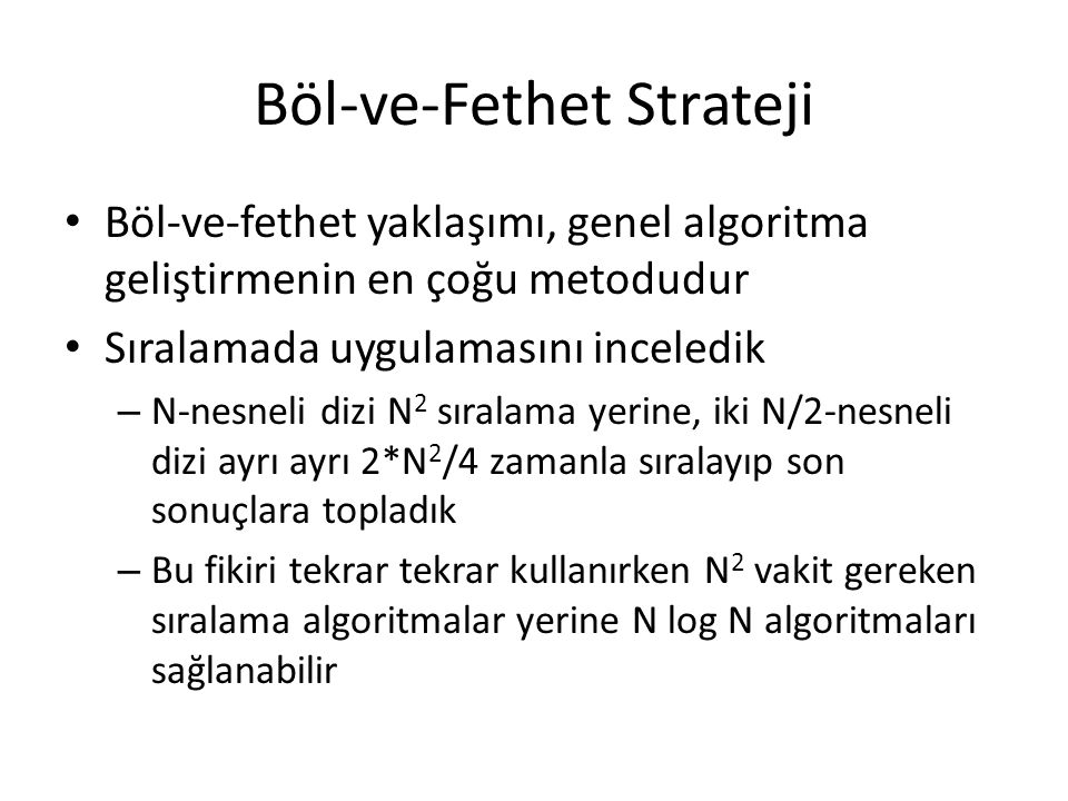 Böl-ve-Fethet Strateji