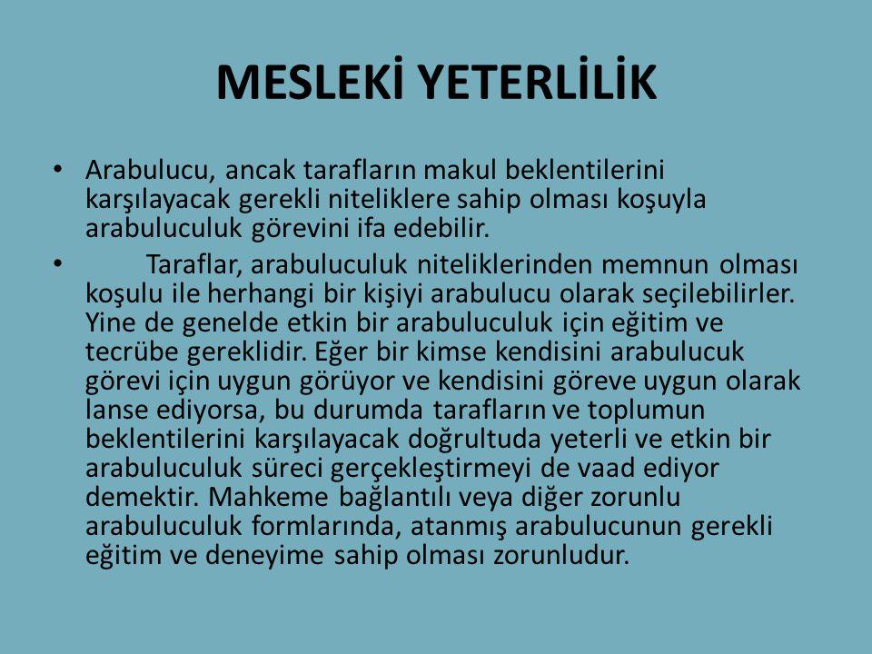 MESLEKİ YETERLİLİK