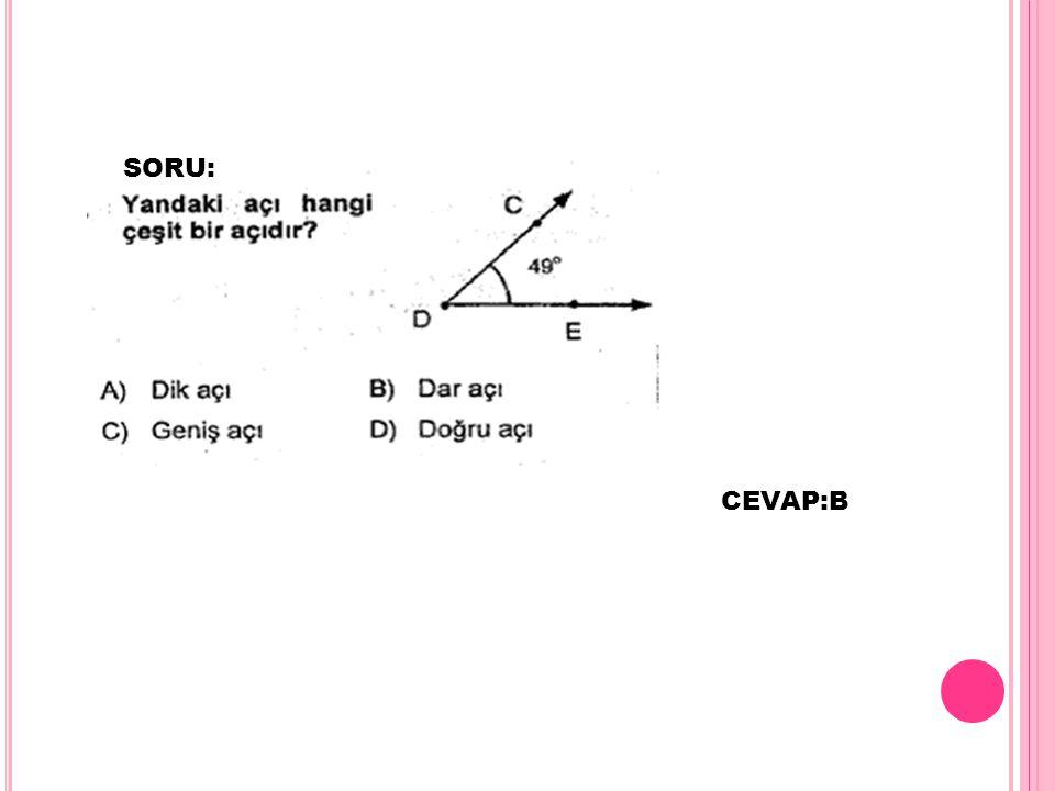 SORU: CEVAP:B
