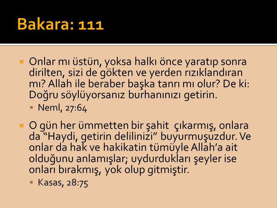 Bakara: 111