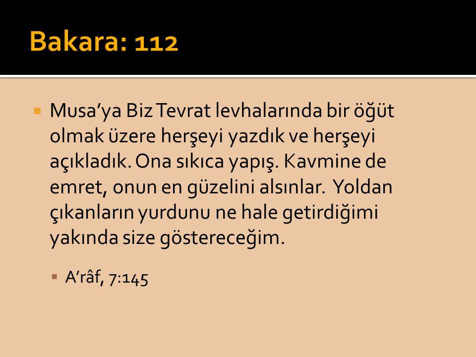 Bakara: 112