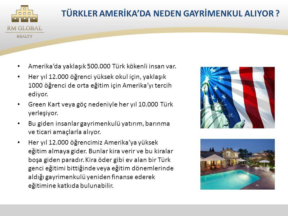TÜRKLER AMERİKA'DA NEDEN GAYRİMENKUL ALIYOR