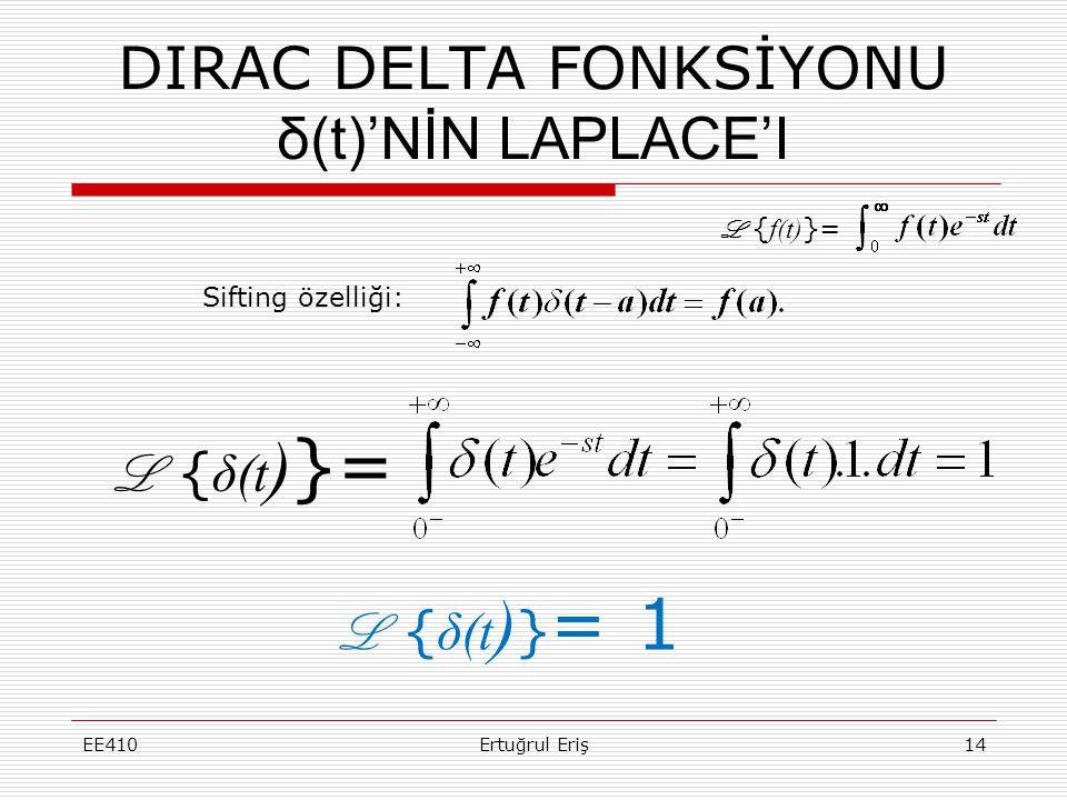 DIRAC DELTA FONKSİYONU δ(t)'NİN LAPLACE'I