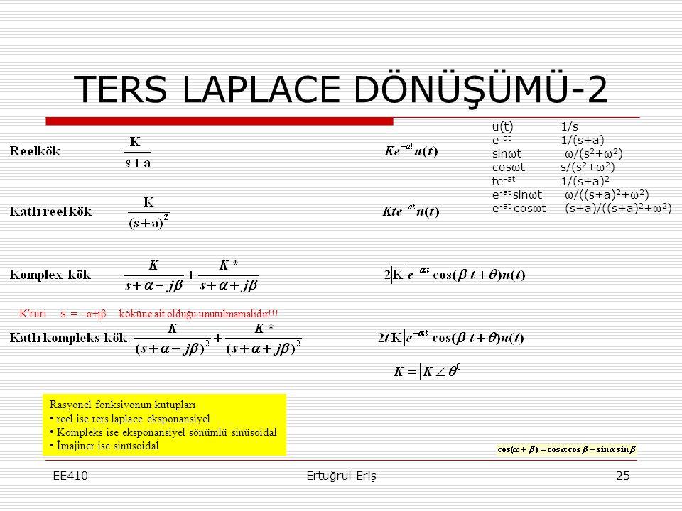 TERS LAPLACE DÖNÜŞÜMÜ-2