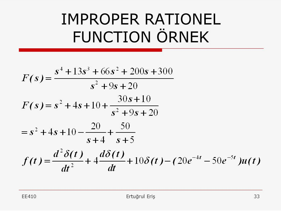 IMPROPER RATIONEL FUNCTION ÖRNEK