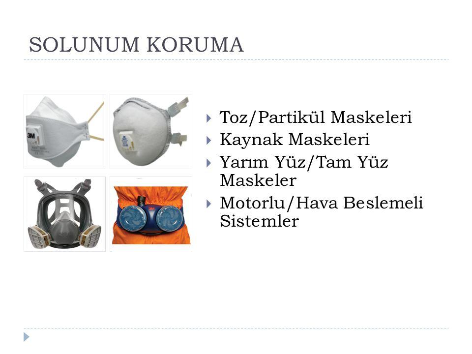 SOLUNUM KORUMA Toz/Partikül Maskeleri Kaynak Maskeleri