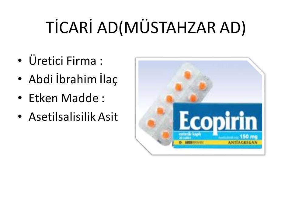 TİCARİ AD(MÜSTAHZAR AD)