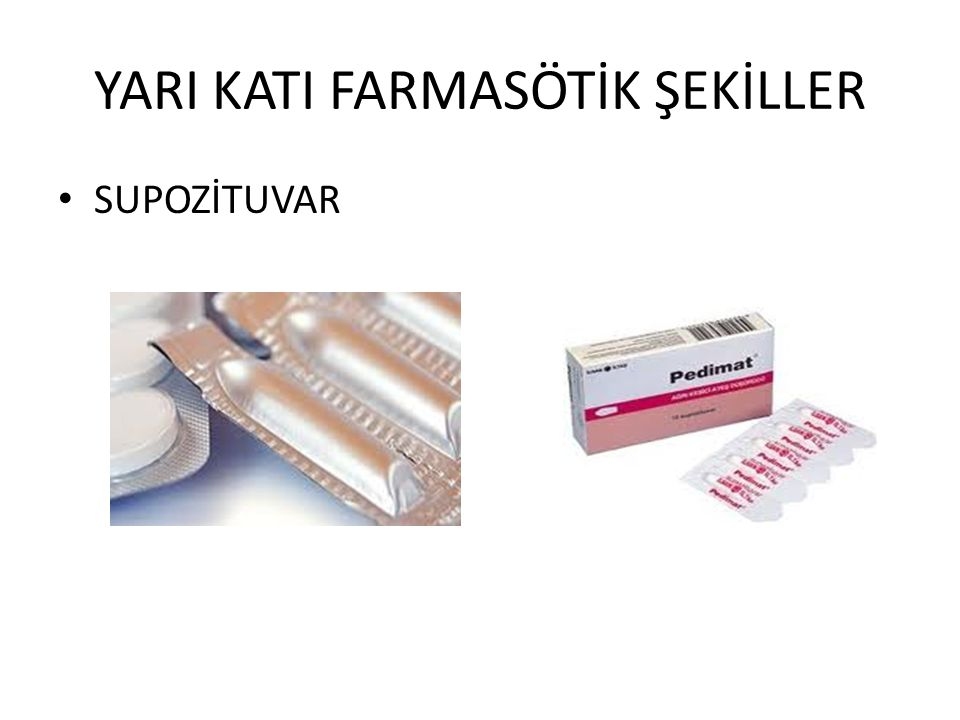 YARI KATI FARMASÖTİK ŞEKİLLER
