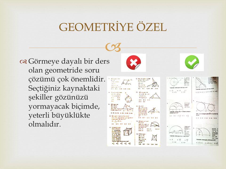 GEOMETRİYE ÖZEL