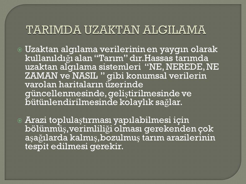 TARIMDA UZAKTAN ALGILAMA