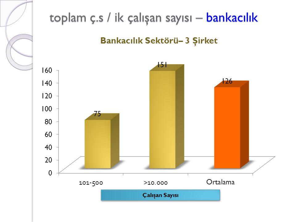 toplam ç.s / ik çalışan sayısı – bankacılık