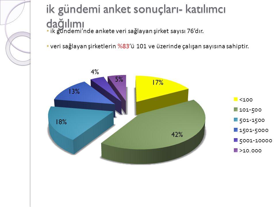 ik gündemi anket sonuçları- katılımcı dağılımı