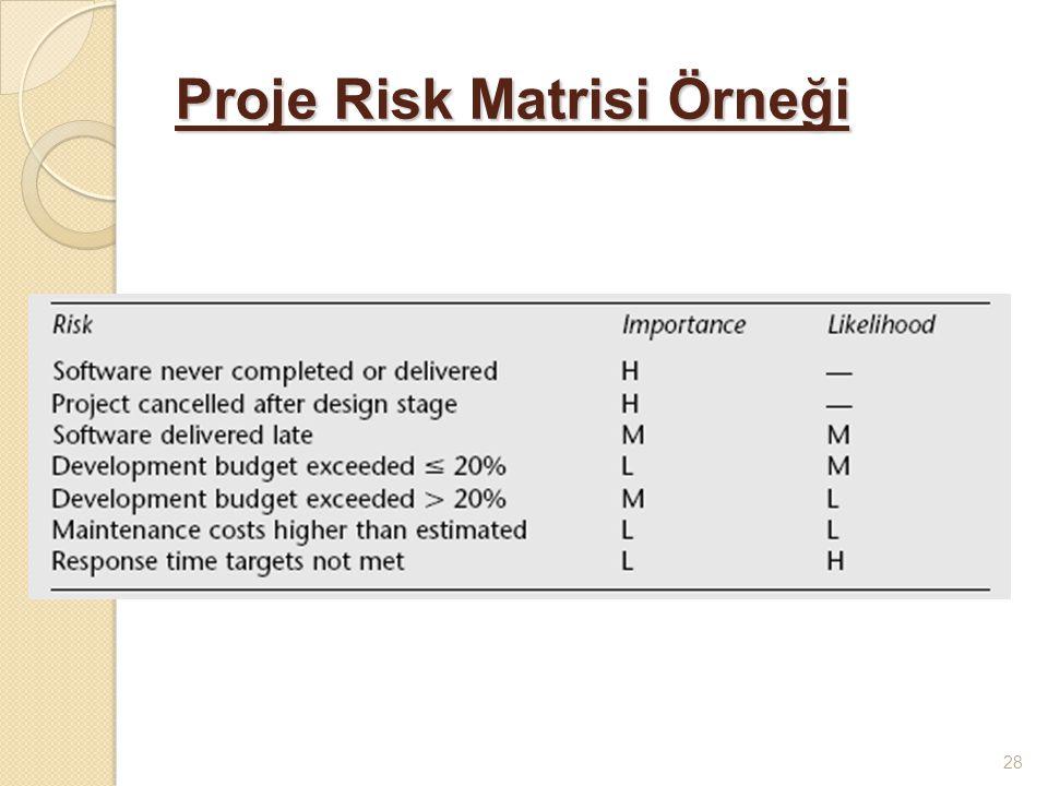 Proje Risk Matrisi Örneği