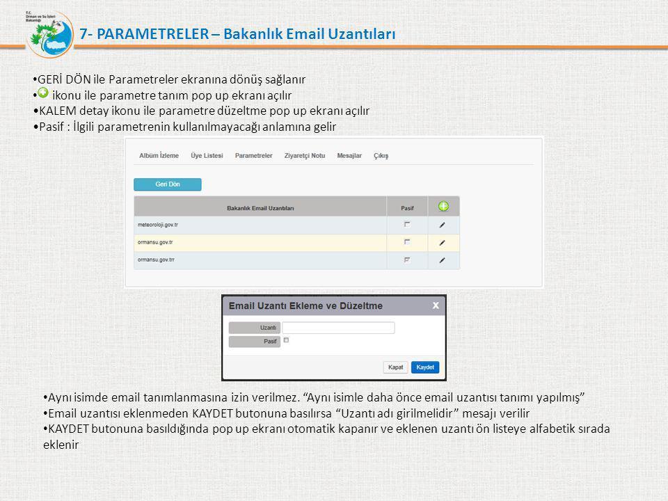7- PARAMETRELER – Bakanlık Email Uzantıları