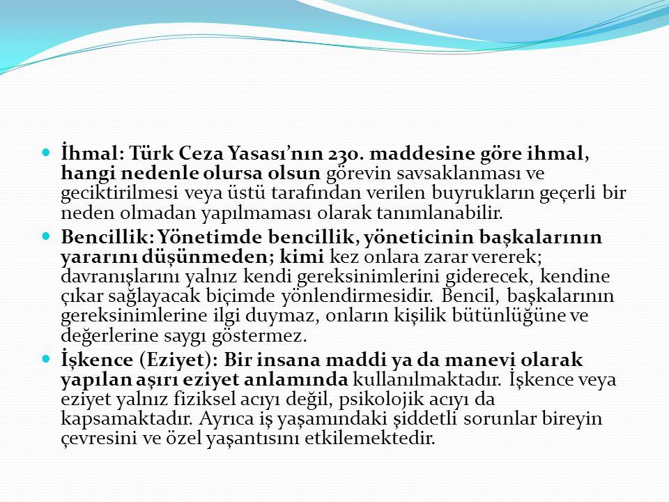İhmal: Türk Ceza Yasası'nın 230