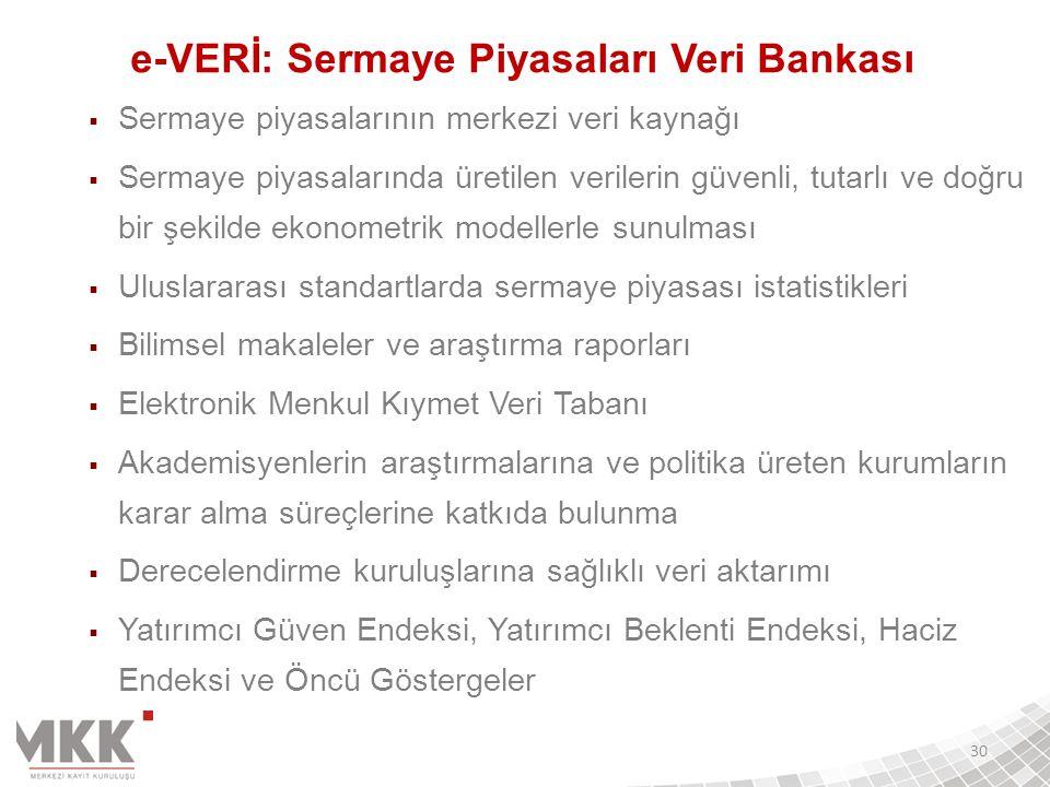 e-VERİ: Sermaye Piyasaları Veri Bankası