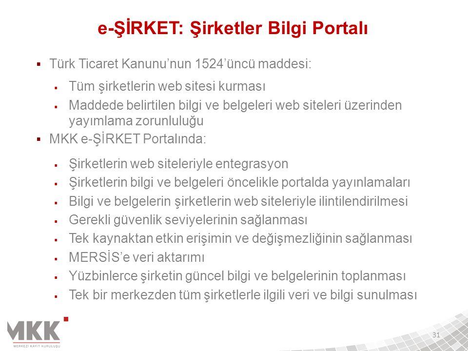 e-ŞİRKET: Şirketler Bilgi Portalı