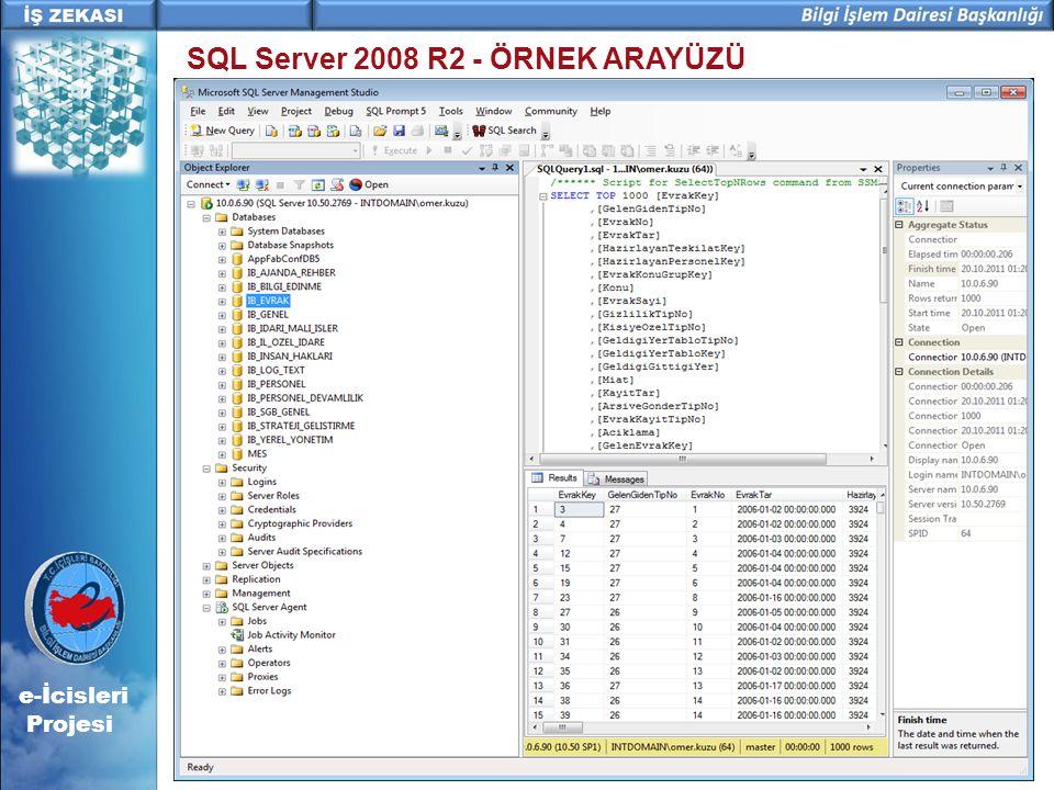 SQL Server 2008 R2 - ÖRNEK ARAYÜZÜ