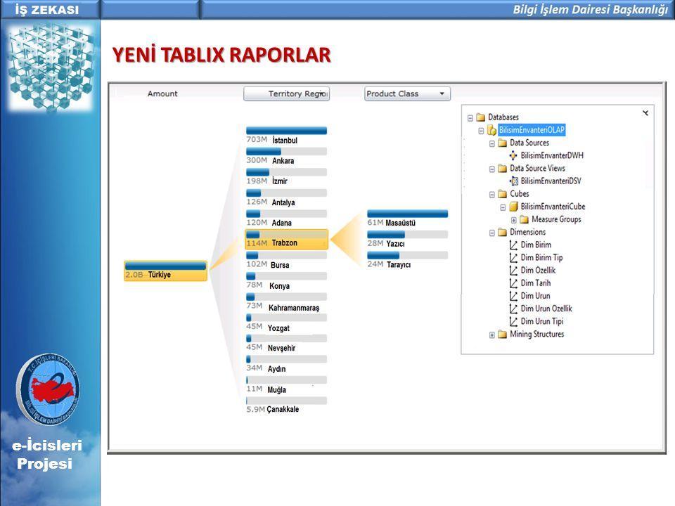 YENİ TABLIX RAPORLAR e-İcisleri Projesi